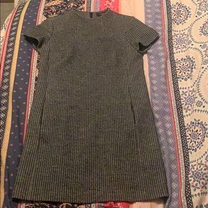 Grey and black striped theory dress.